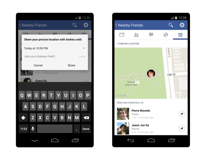 Facebook Nearby Friends' old map and precise location sharing feature have bene removed