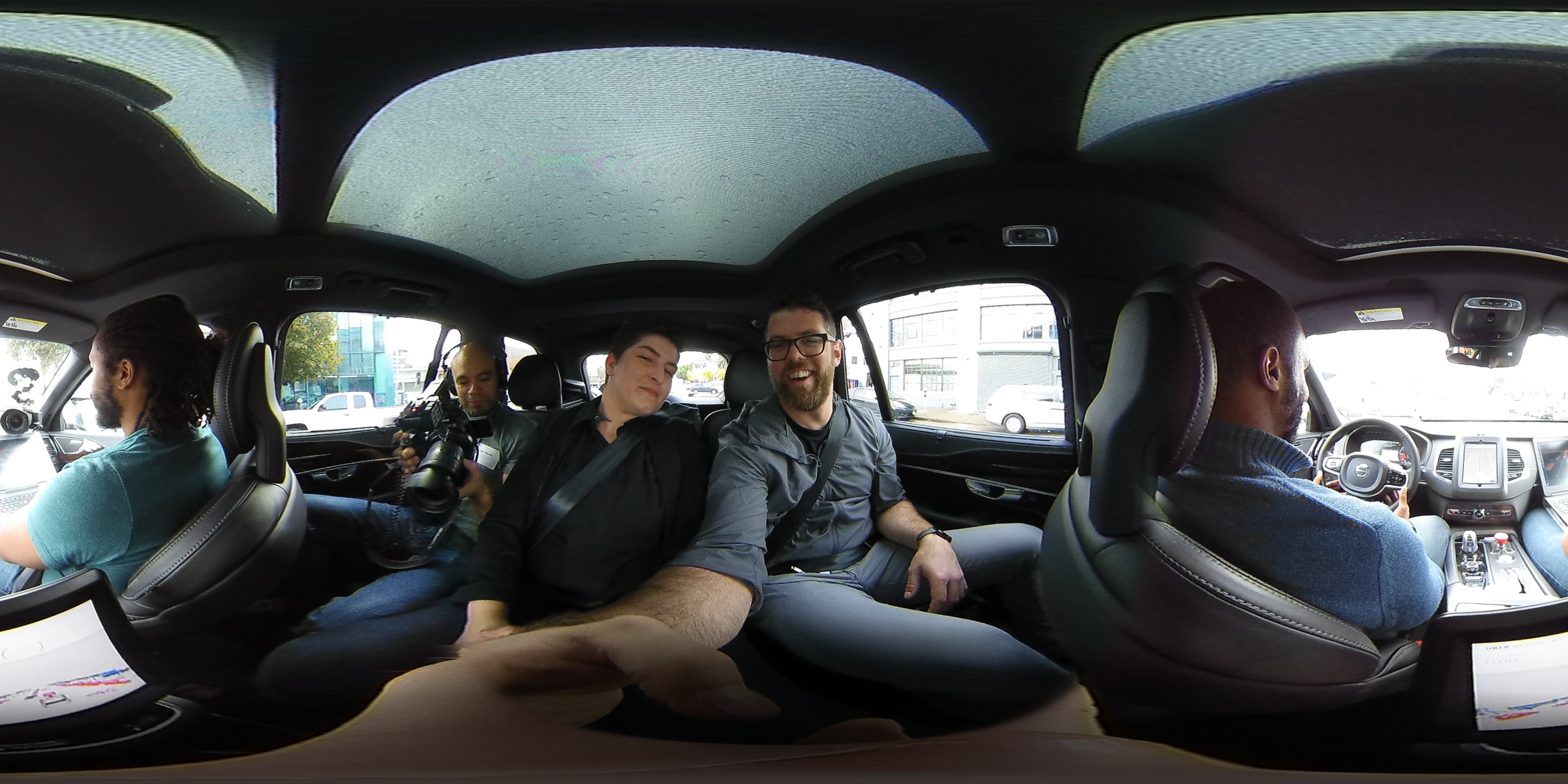 A 360-degree look at what it's like to ride in a self-driving Uber, with Uber Chief of Watch Rachel Maran.