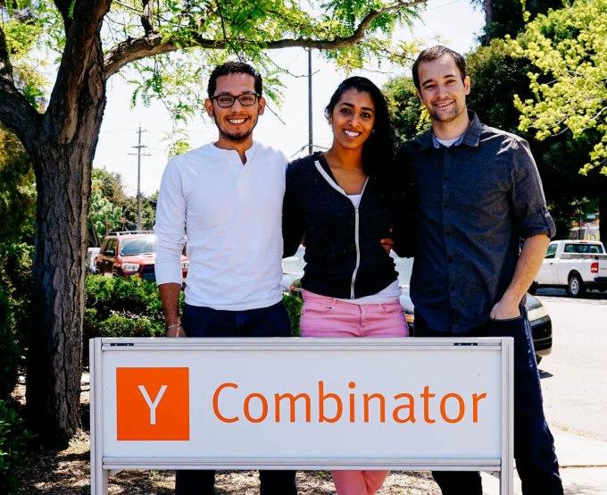 CrowdAI's founders (from left): Pablo Garcia, Devaki Raj, and Nic Borensztein