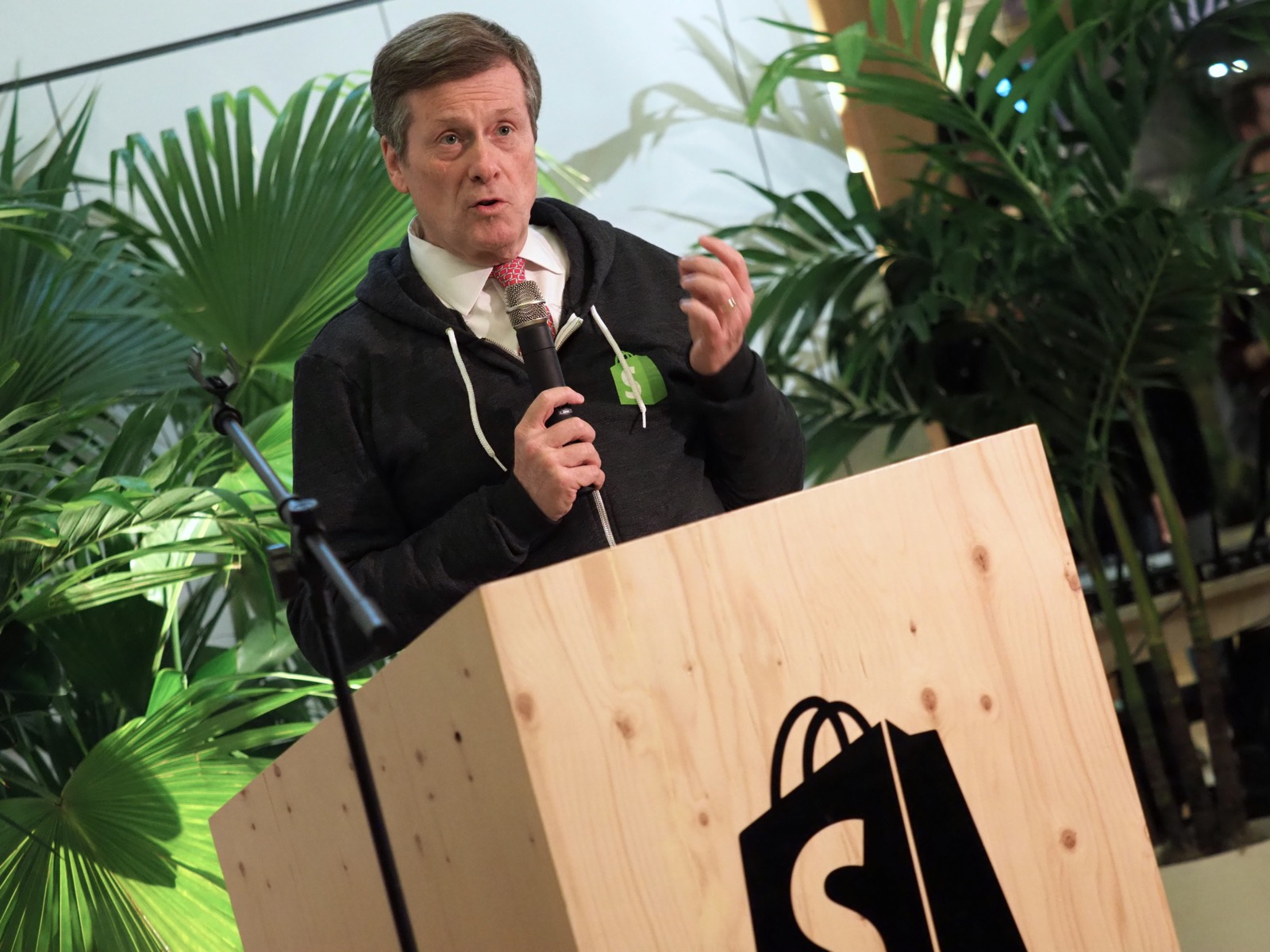 Toronto Mayor John Tory at Shopify's new expansion office opening.