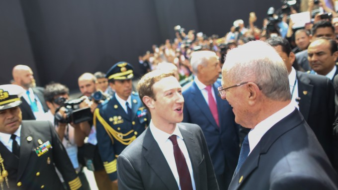 LIMA, PERU - NOVEMBER 19: Chief Executive Officer of Facebook, Mark Zuckerberg (R 2) attends the APEC CEO Summit, part of the broader Asia-Pacific Economic Cooperation (APEC) Summit in Lima, Peru on November 19, 2016. Peru's President Pedro Pablo Kuczynski opened the summit of Asia-Pacific leaders on November 18 urging them to robustly defend free trade against protectionist trends in the United States and Europe. (Photo by Sebastian Castaneda/Anadolu Agency/Getty Images)