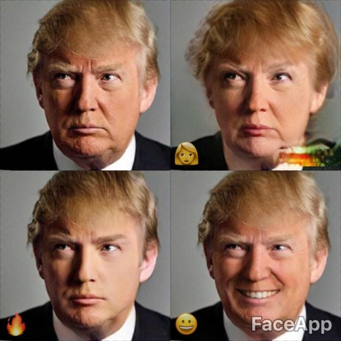 FaceApp effects