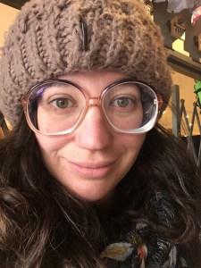 My producer rocking a vintage pair of Lensabl glasses.
