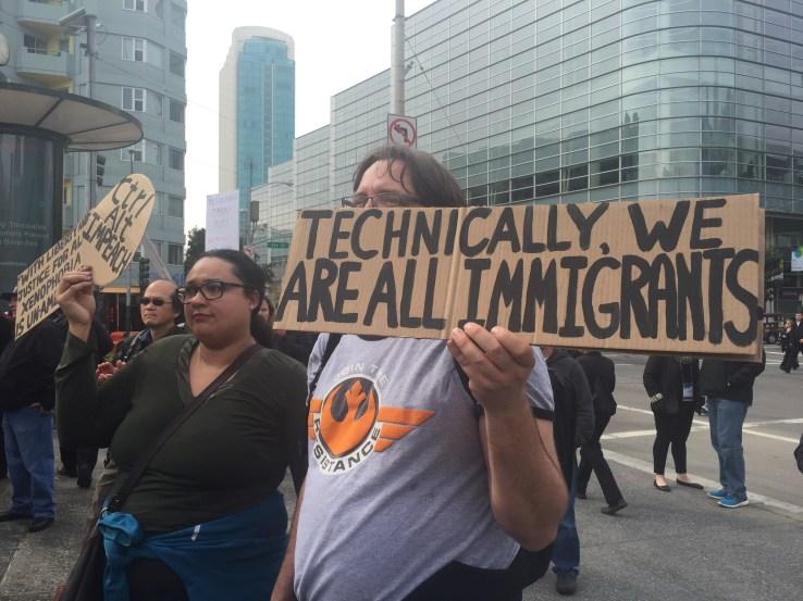 tech worker rally