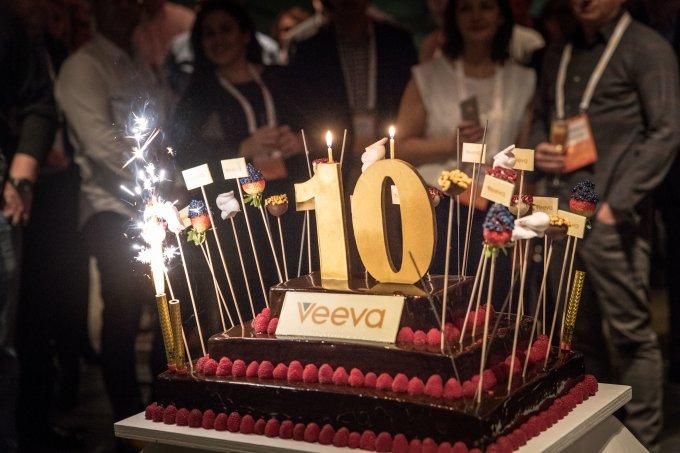Veeva 10 year anniversary cake
