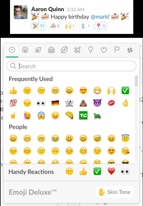 slack-reaction-emoji