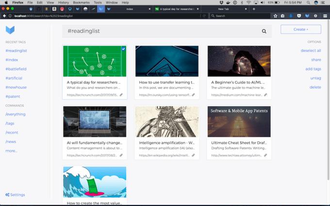 Index desktop screenshot