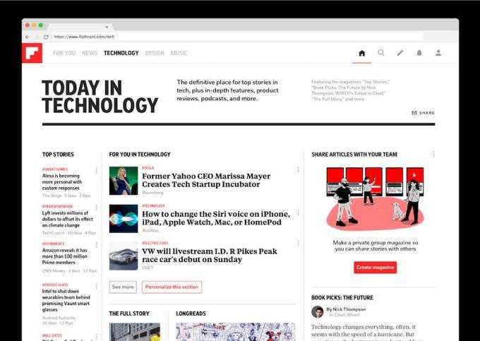 Flipboard tech desktop