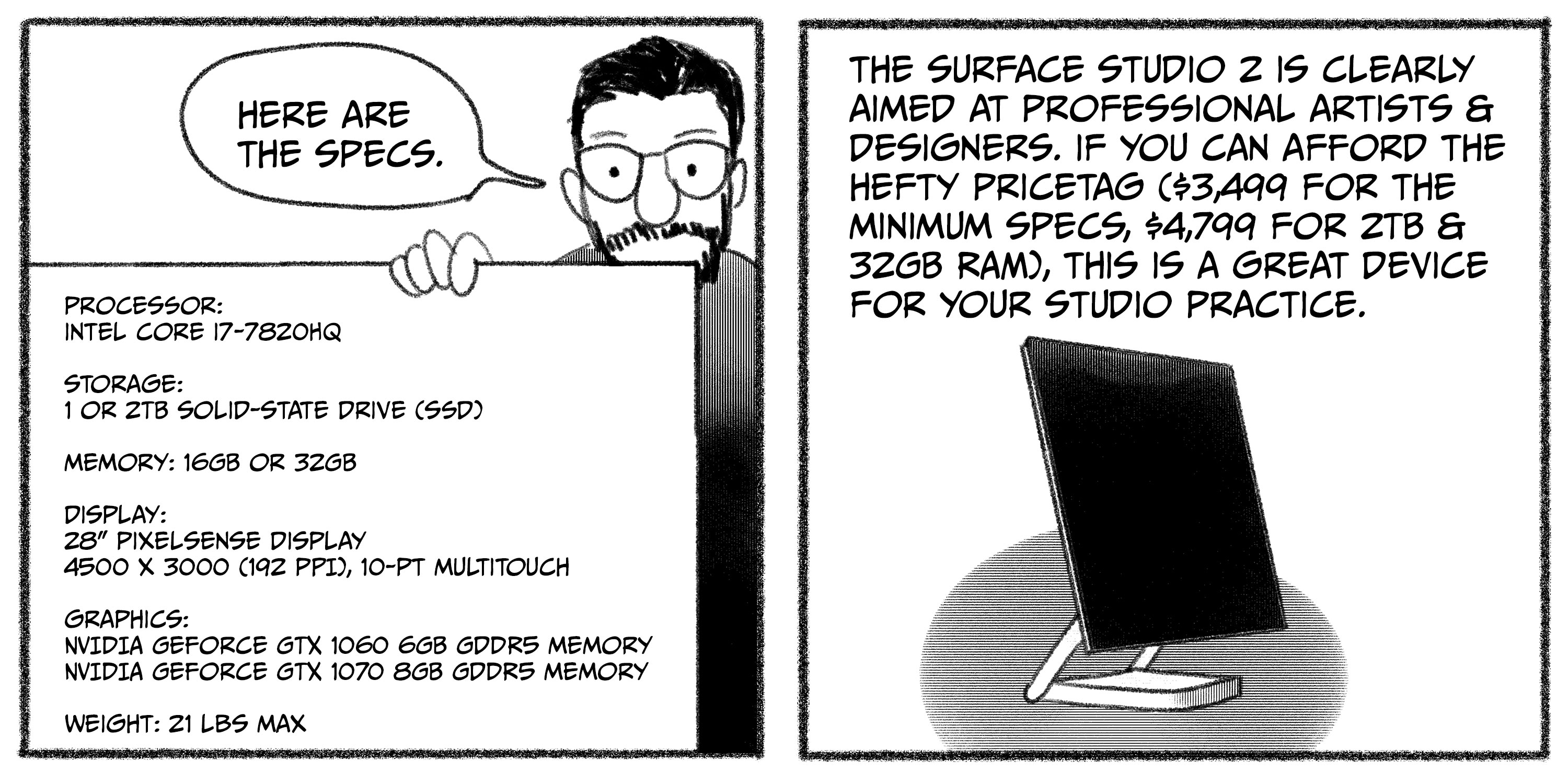 Surface Studio 2 review, panels 11 and 12