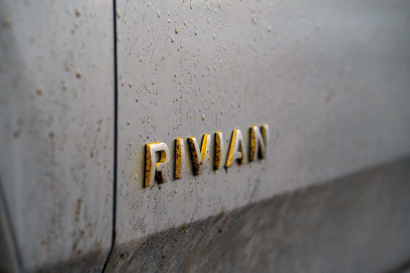 Rivian automaker badge