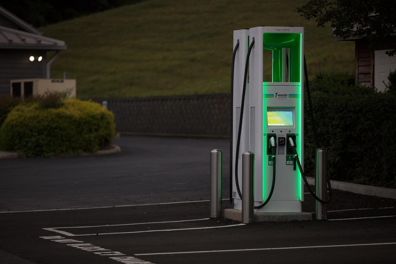 Electrify America charging kiosk