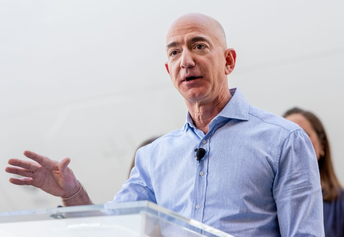 Amazon's Jeff Bezos Makes Surprise Visit To Employee Veterans Day Event