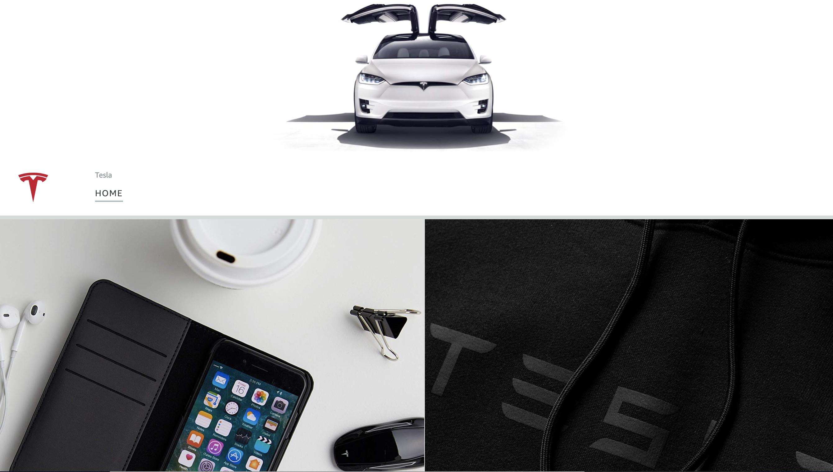 Tesla Amazon store