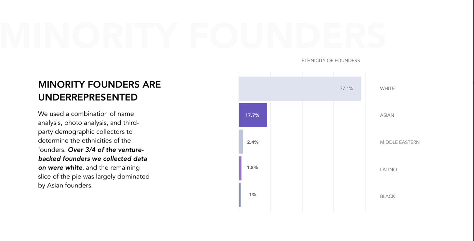 Minority founder data