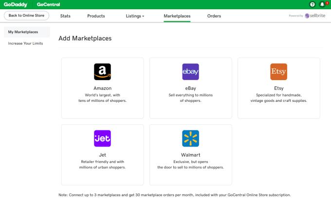 GoCentral marketplaces