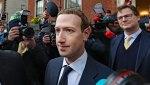 Facebook CEO Mark Zuckerberg leaving The Merrion Hotel in Dublin