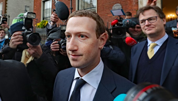 Facebook CEO Mark Zuckerberg leaving The Merrion Hotel in Dublin