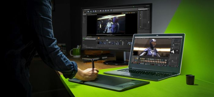 One of Nvidia's new Studio laptops, meant to compete against the MacBook Pro