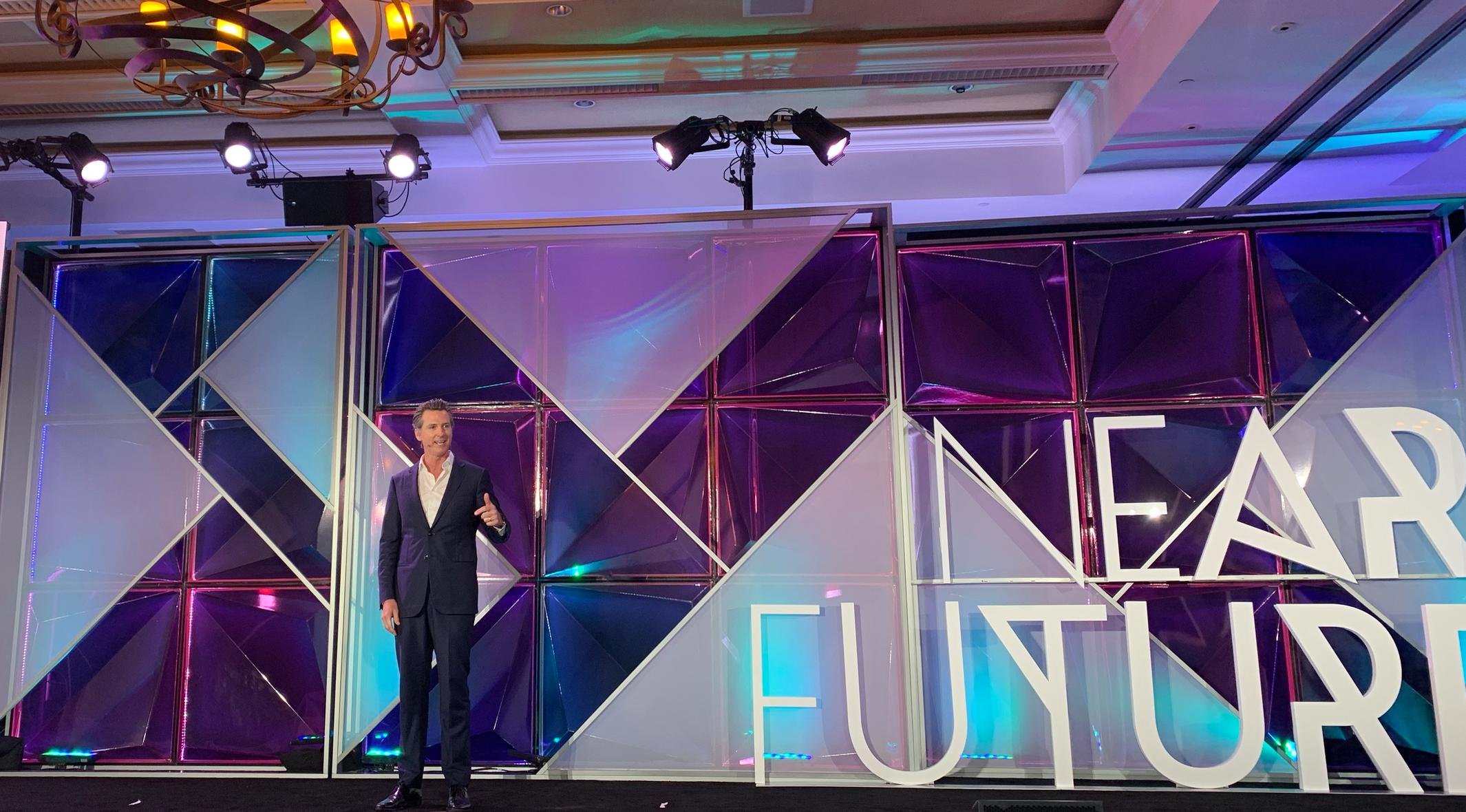 Gavin Newsom at the near future summit
