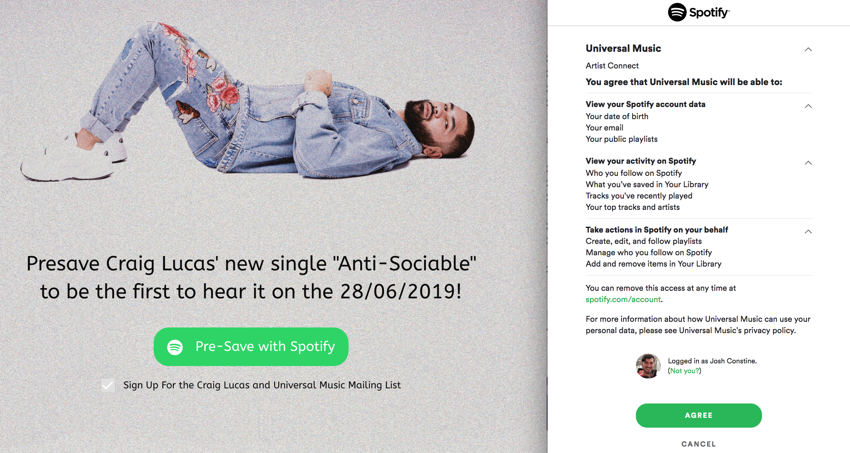 Spotify Pre Save Developer Abuse