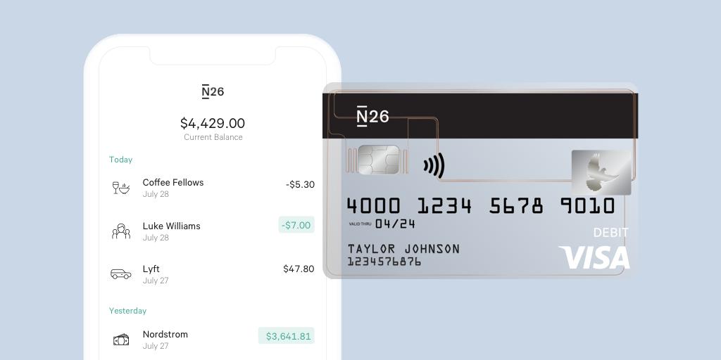 N26 US App and Card