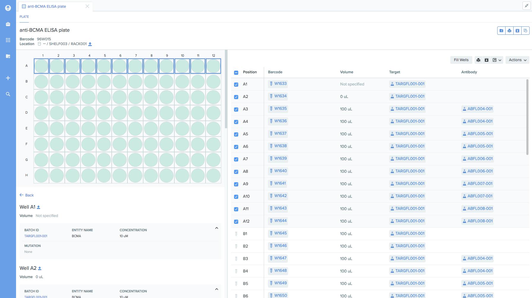 benchling screenshot Samples
