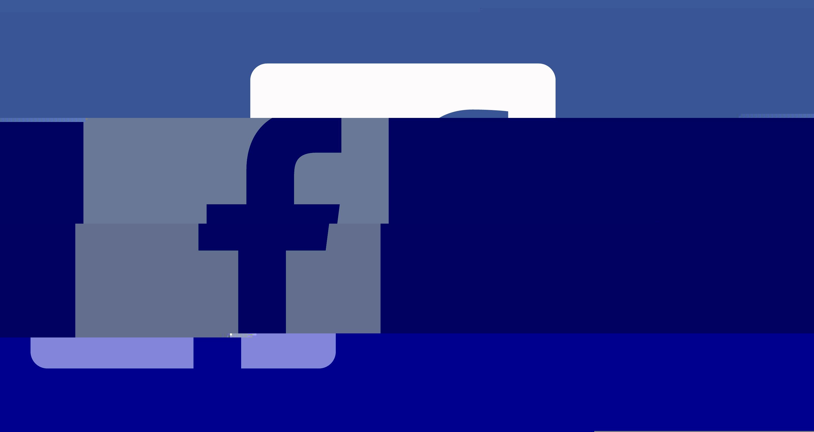 facebook logo down glitch
