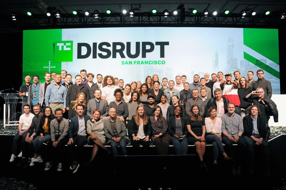TechCrunch team at Disrupt SF 2018