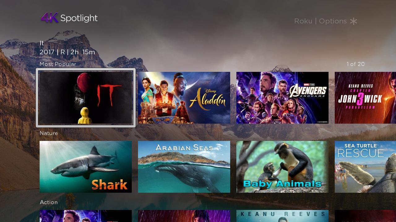 Roku 4K Spotlight Channel