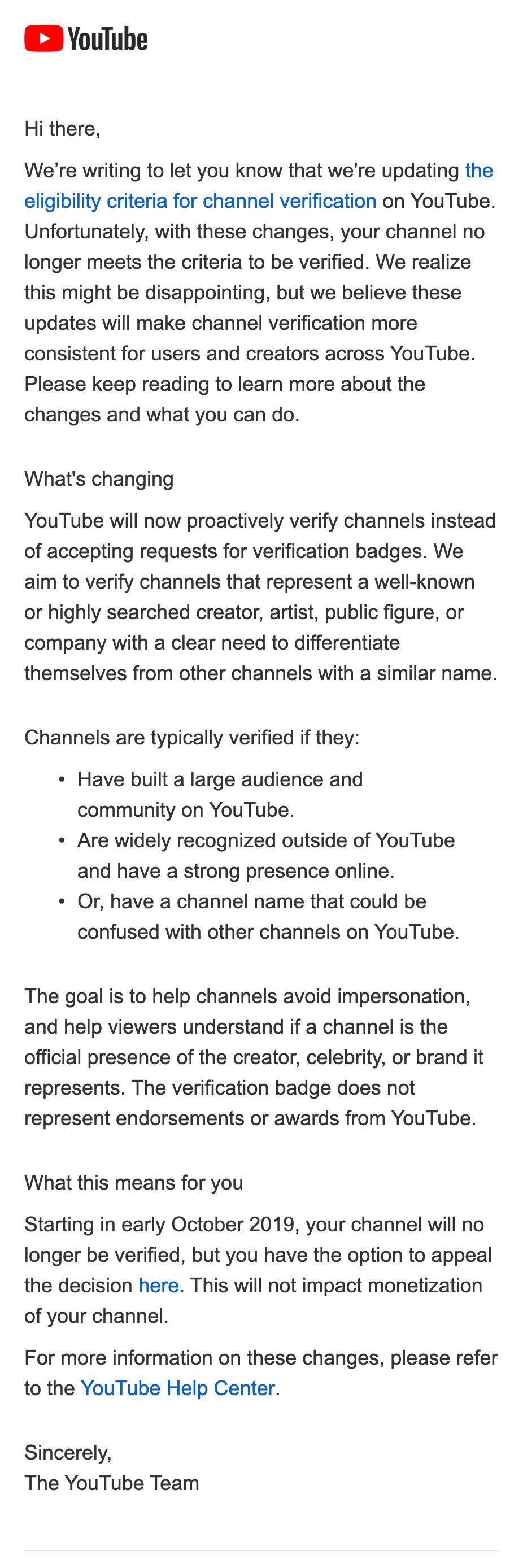youtube letter