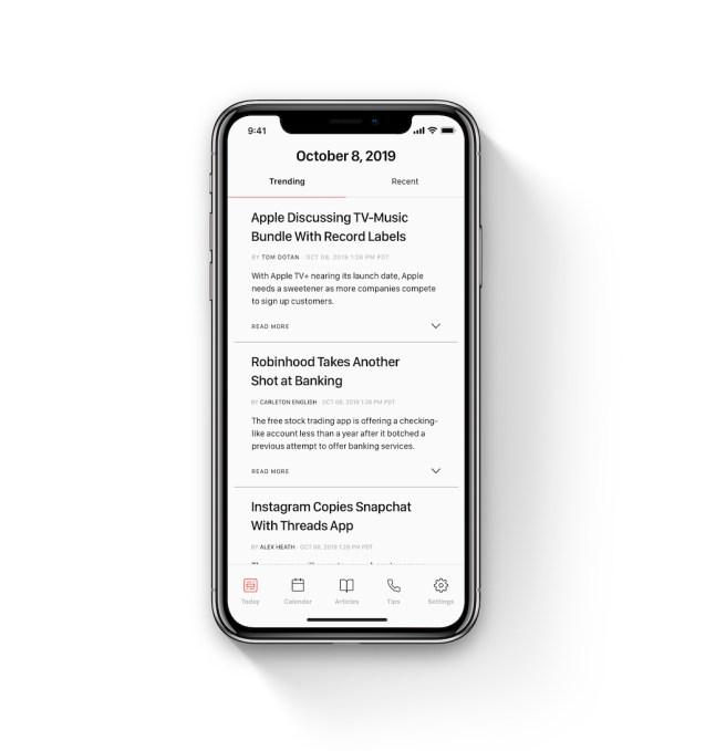 The Information ticker app