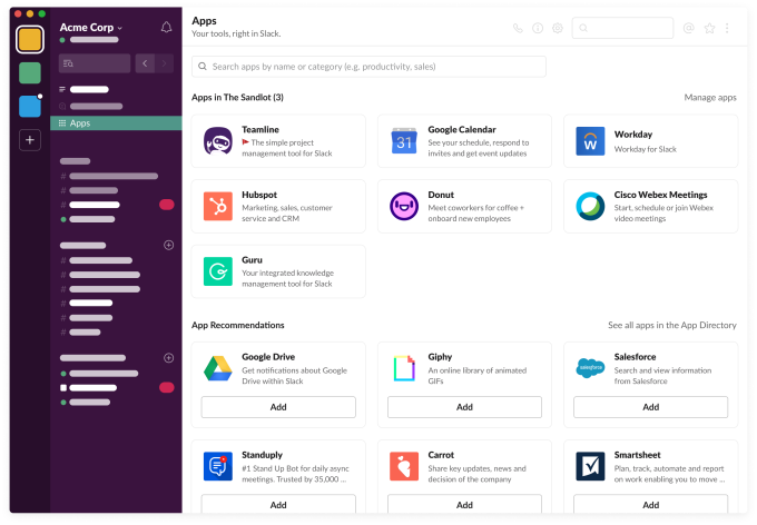 Slack App launcher