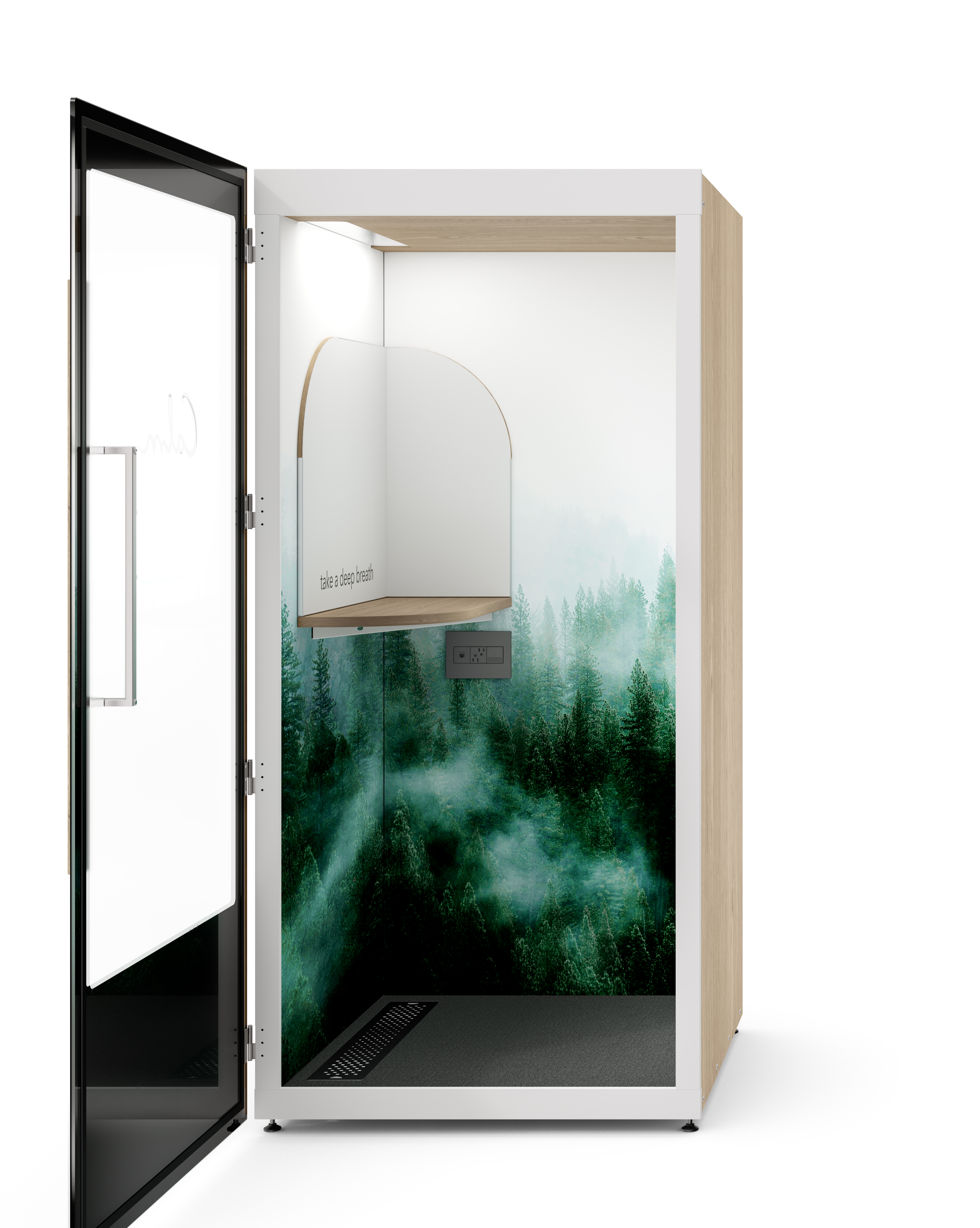 Calm Green Forest Side open door 4 1