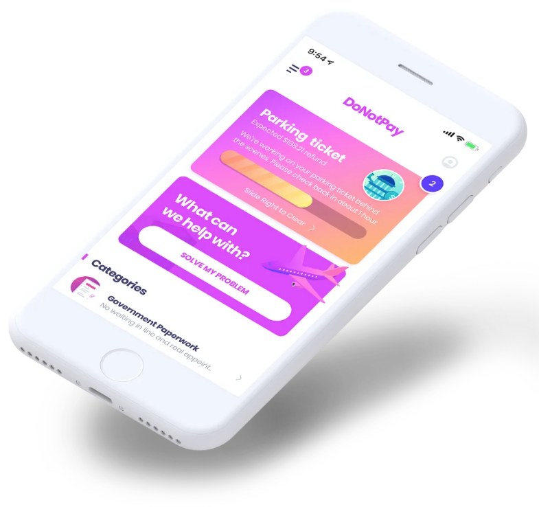 DoNotPay app