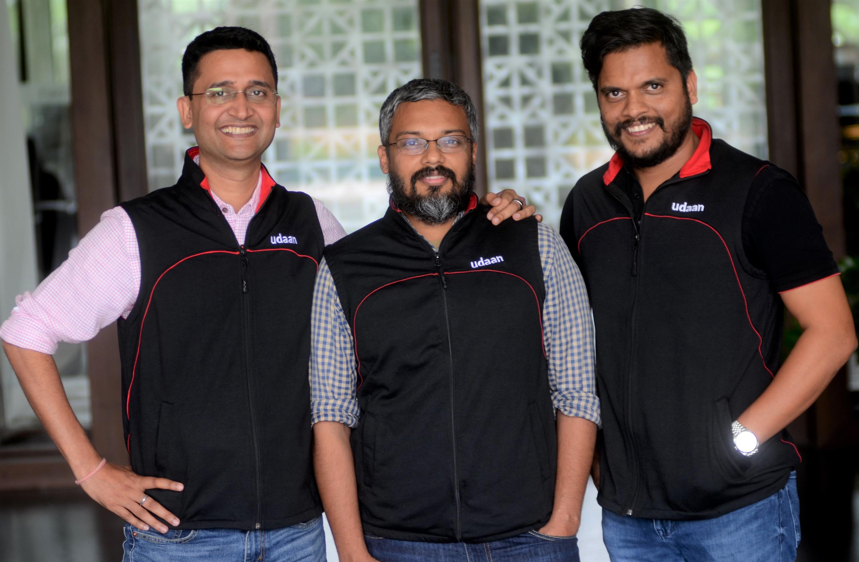 L R Amod Malviya Vaibhav Gupta Sujeet Kumar Co founders Udaan