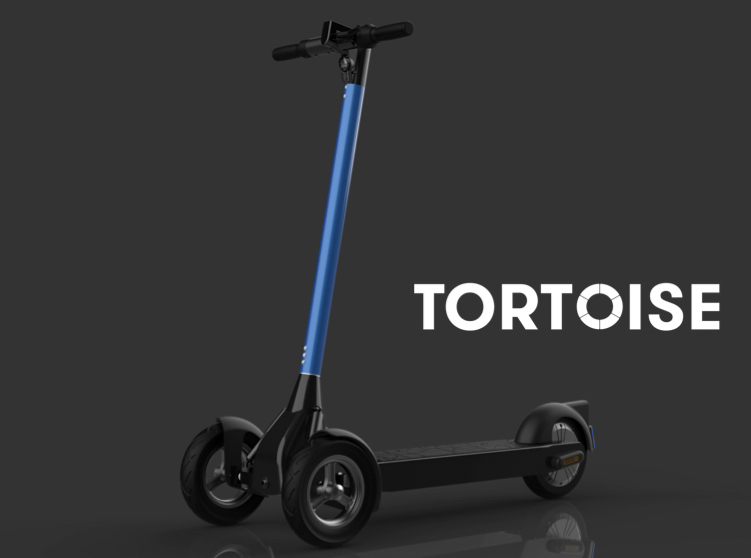 Tortoise on a YIMI A80 scooter rectangle