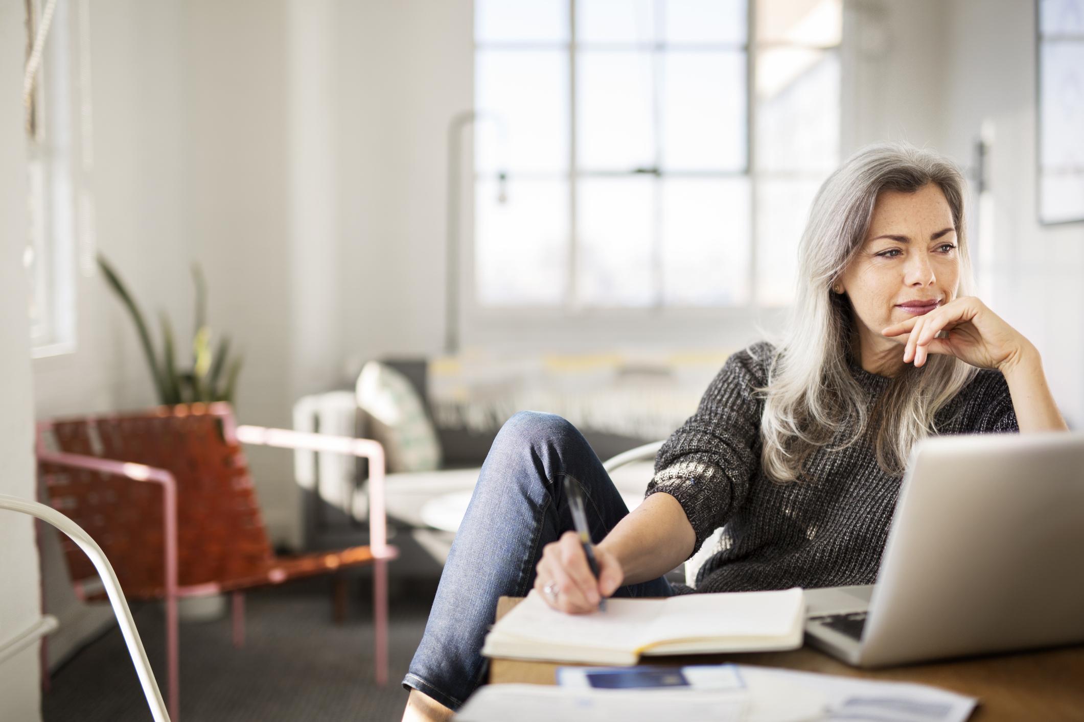 woman writing writer