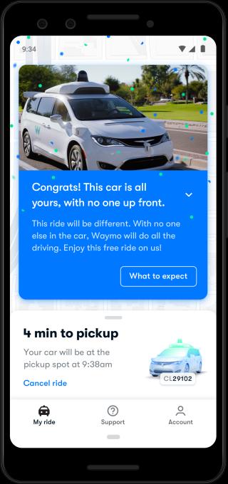 waymo Driverless notification