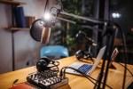 Photo of podcast studio