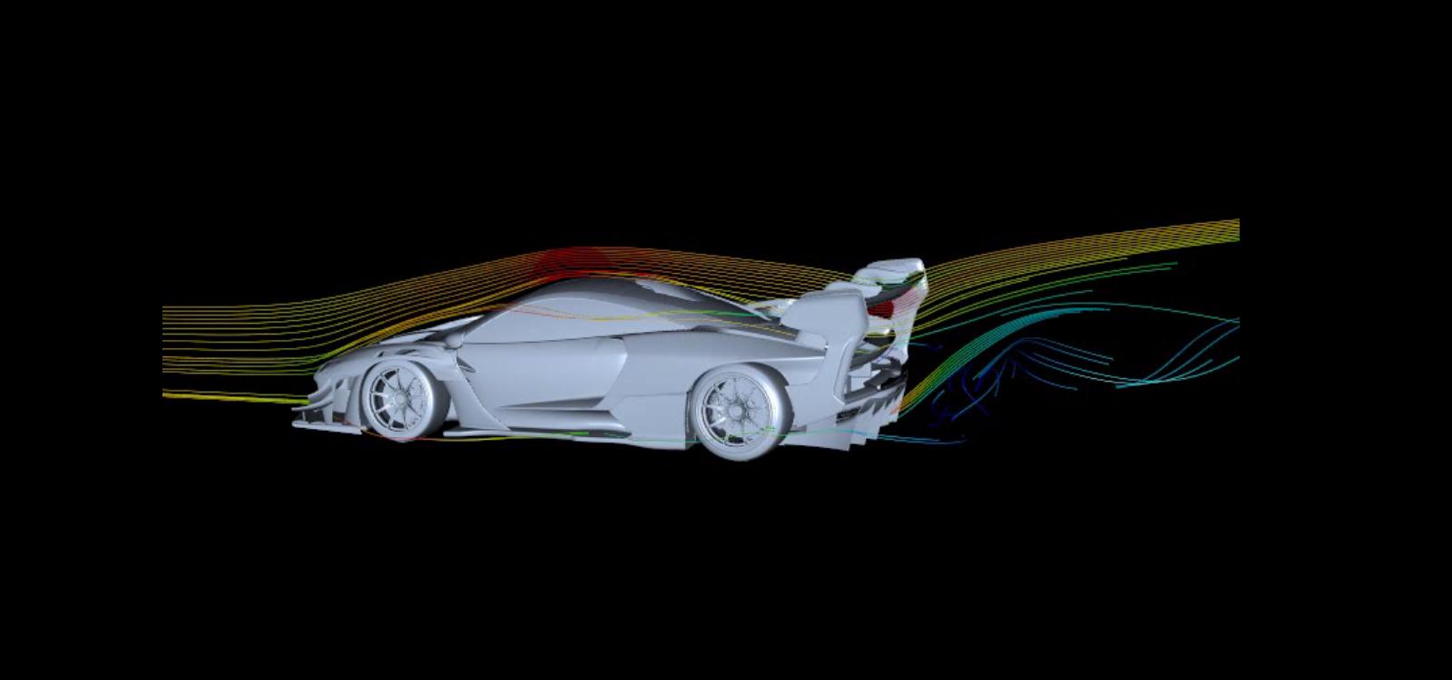 Senna GTR CFD1 aero side