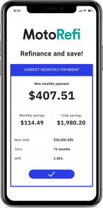 MotoRefi auto loan refinancing product