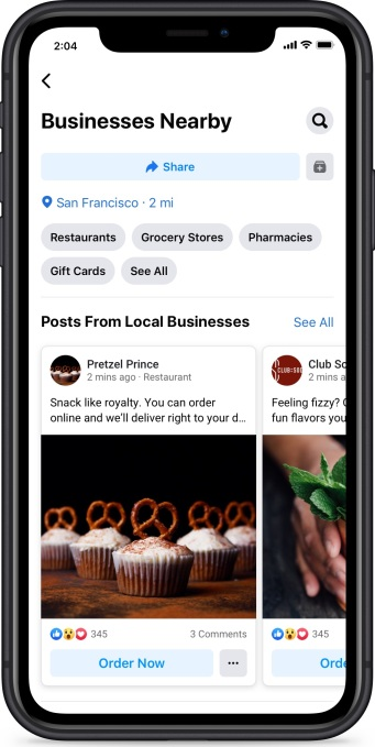 Facebook Businesses Nearby