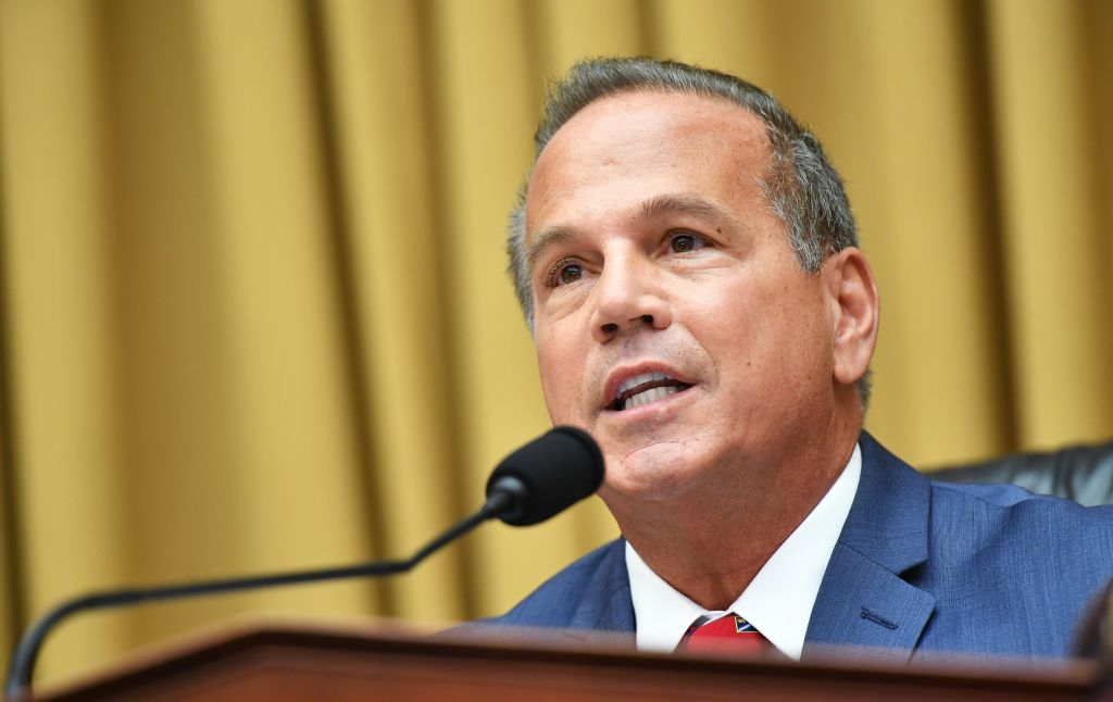 """House Judiciary Subcommittee on Antitrust, Commercial and Administrative Law Chair David Cicilline, D-RI, speaks during a hearing on """"Online Platforms and Market Power"""" in the Rayburn House office Building on Capitol Hill in Washington, DC on July 29, 2020. (Photo by MANDEL NGAN/POOL/AFP via Getty Images)"""