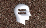 Human head and equal sign formed by human crowd on white background. Horizontal composition with clipping path and copy space. Social justice and equality concept.