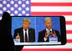US President Donald Trump and Democratic presidential candidate and former US Vice President Joe Biden