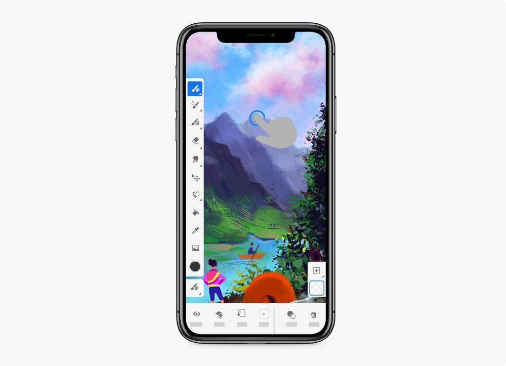 Adobe Fresco on iPhone