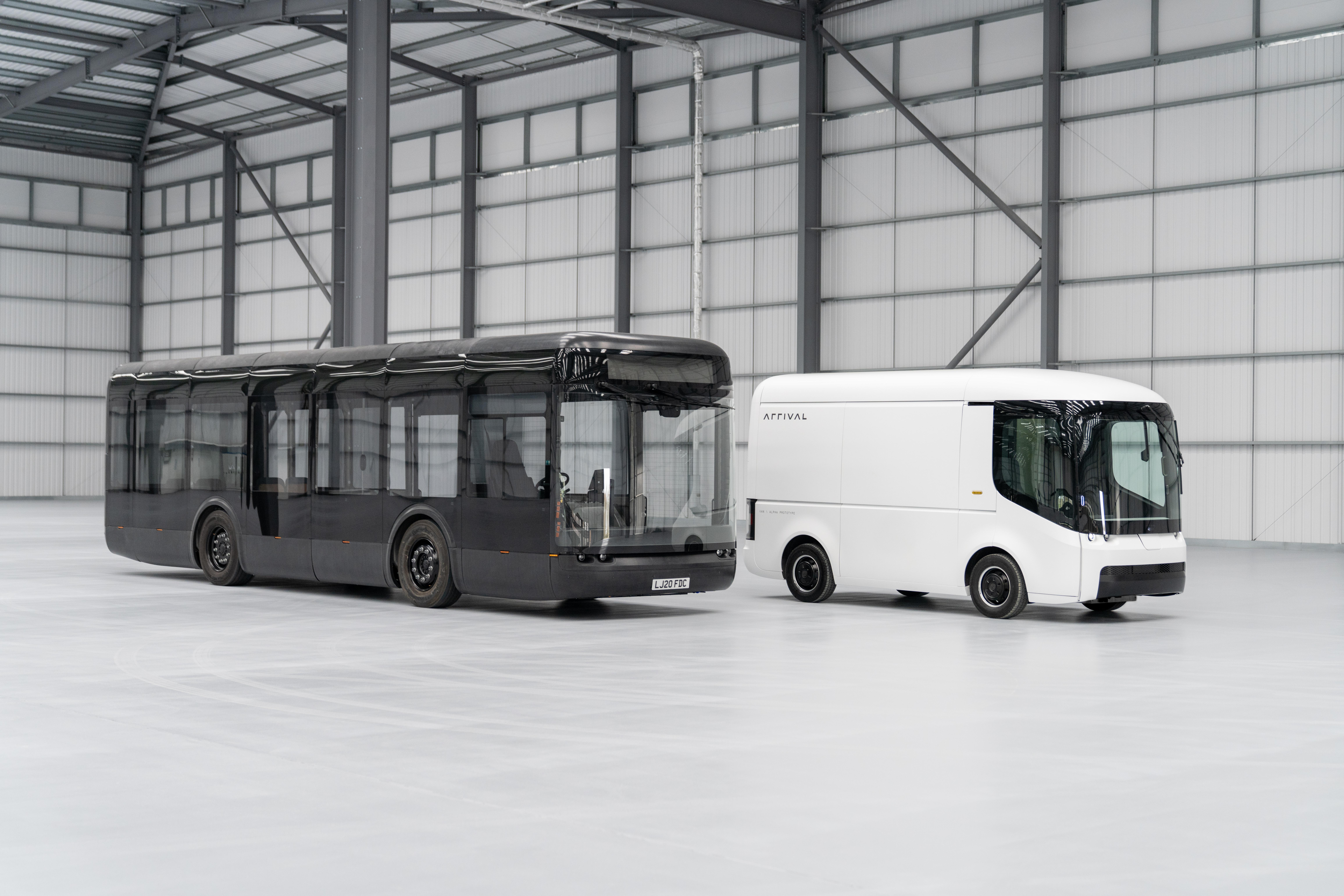 Arrival electric bus van