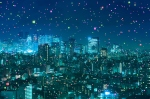 Image of big data as a metaphor for smart cities