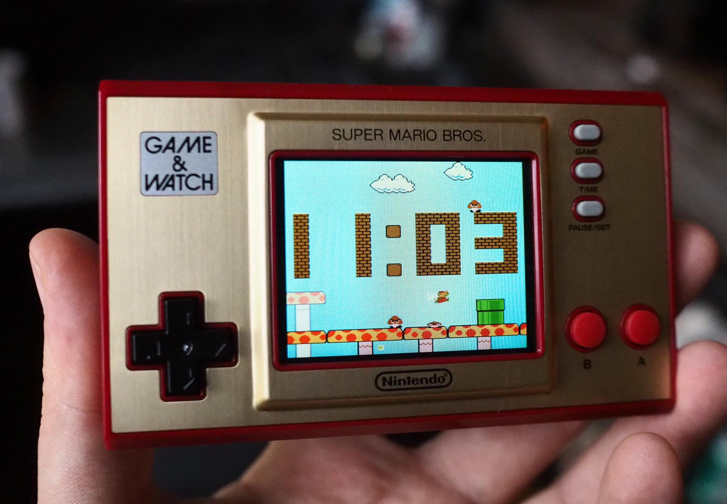 Nintendo's Super Mario Bros handheld system