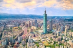 Aerial view of Taipei's cityscape